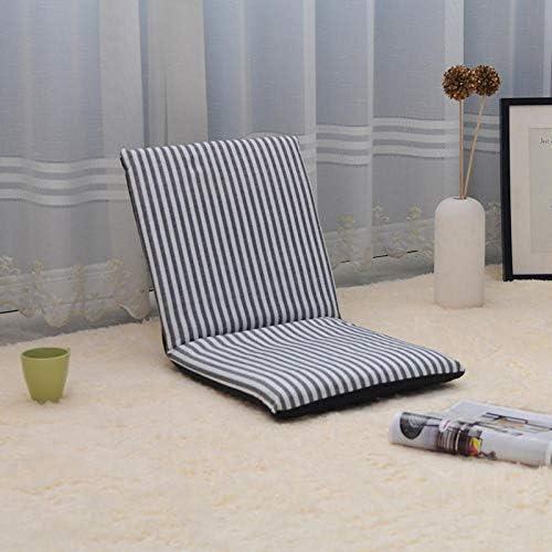 座席ラウンジチェア折りたたみ怠惰なソファー6角度調整フロアチェアバルコニー出窓チェアオフィス読書マット瞑想チェアストライプ