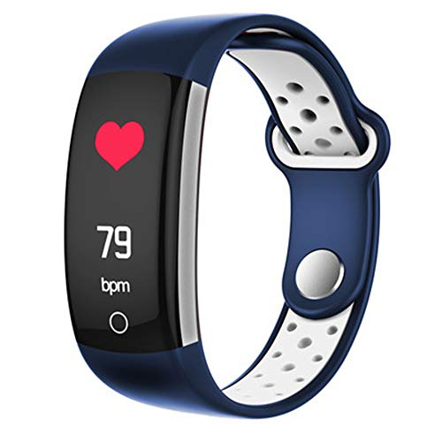 (Color Screen Smart Bracelet, Waterproof Heart Rate Monitoring Information, Multi-Function Sports Fitness Tracker Compatible with Android/iOS-B)