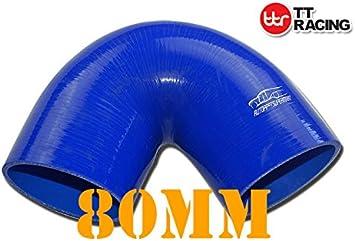 "3/"" to 2.75 Inch Silicone 135 degree Elbow Reducer Silicon Turbo Black"