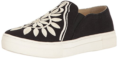 Seychelles Women's Sunshine Fashion Sneaker, Black/Cream, 9.5 M US