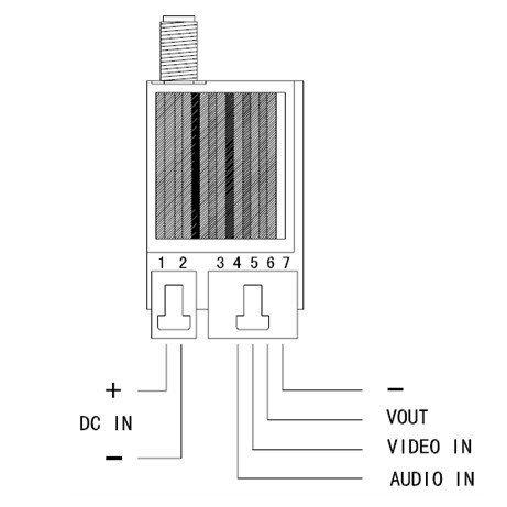 ZJchao 8ch 5.8g 1000mw Video Audio Transmitter Tx 5km + 5.8ghz Reciver for FPV by ZJchao (Image #7)