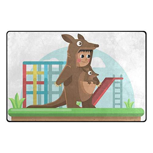 TIKISMILE Kangaroo Costume Child 60 x 39 inch Area Rug Carpet Non-Slip Floor Mat Doormats for Living Room Bedroom ()