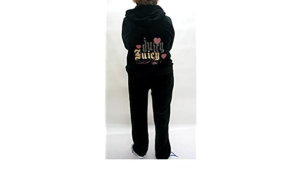 Juicy Couture - Chándal de velvetón Negro con Chaqueta y pantalón ...