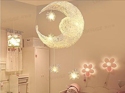 Egomall figlio di alluminio creativo le stelle luna lampade ...