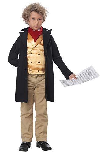 California Costumes Famous Composer/Beethoven Child Costume-Medium