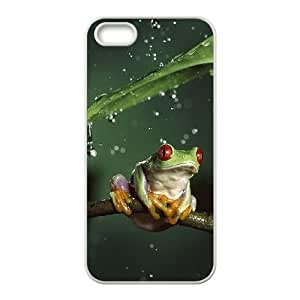 iPhone 4 4s Cell Phone Case White Frog E9U0X