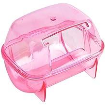 Saim Hamster Bathroom, Small Pets Hamster Bathroom Bath Sand Room Sauna Toilet ( Random Color)