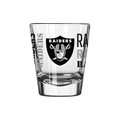 (Hunter NFL Oakland Raiders Premium Heavy Base 2.0 oz Shot Glass)