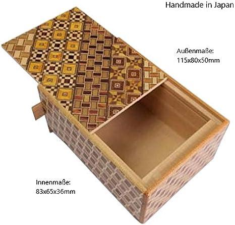 Caja de Puzzles Japonesa Himitsu Bako, Paquete de Regalo o Cofre del Tesoro pequeño, cumpleaños y Bodas, Juego de Broma, Hecho a Mano en Japón: Amazon.es: Hogar