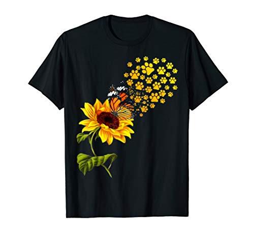 - Dog Paw Sunflower You Are My Sunshine T-Shirt