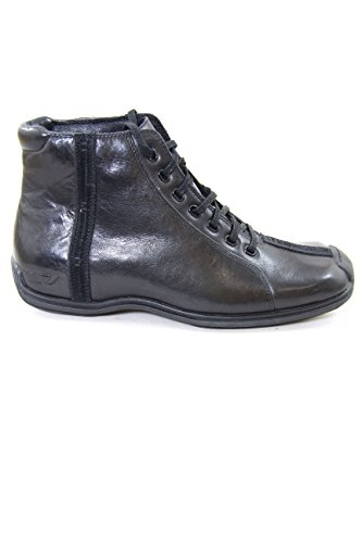 Diesel Leather Ankle Boots Lager Black EU41