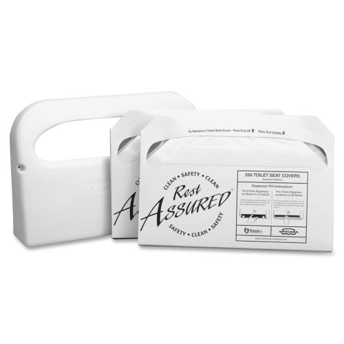durable service Wholesale CASE of 10 - Rochester Midland Toilet Seat Cover Starter Set-Toilet Seat Cover Set, Starter Kit,Includes Disp,250 Shts WE