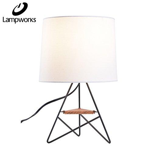 Cheap  Lampworks Table Lamp Modern Design Bedside Lamp Wooden Partition Metal Bracket Desk..