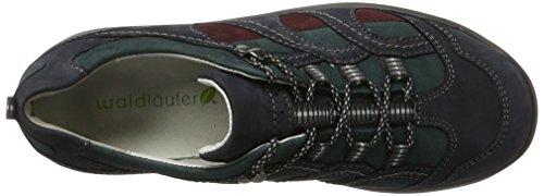 WaldläuferHolly - Zapatillas de cordones para mujer Mehrfarbig (5Xdenver Notte Petrol Brun.)