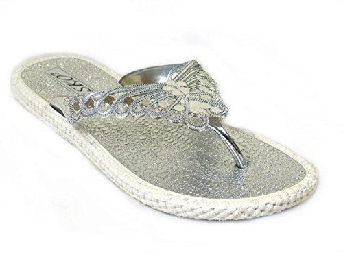 Silver SKO'S pour Tongs UW669 femme aZfFwAxq