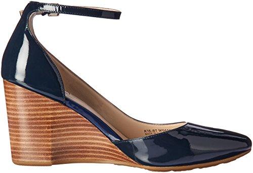 Sadie Cole Patent Strap Platform Blue Ankle Wedge 85MM Women Marine Haan ZrvnqgEZ