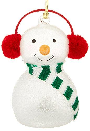 Lenox Wonder Ball Snowman Red Knit Muffs ()