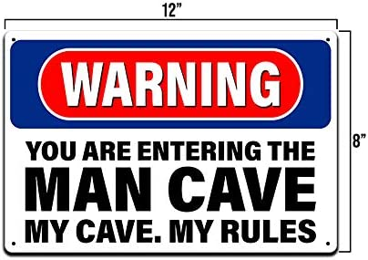 OTGM-0075 STOP LOUIS/'S MAN CAVE Tin Rustic Sign Man Cave Decor Gift Ideas