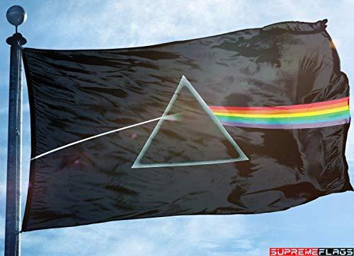 Pink Floyd Flag Banner 3x5 ft Dark Side of The Moon Rock N Roll Band Black (Pink Floyd Flag)