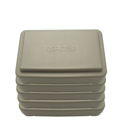 Fitness Aerobic Steps 6 Inch Gray - 5 Pack by Athletic Connection