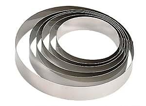 De Buyer 3989.16 - Molde redondo para tartas de acero inoxidable (altura: 4,5 cm, diámetro: 16 cm, 1 pieza)