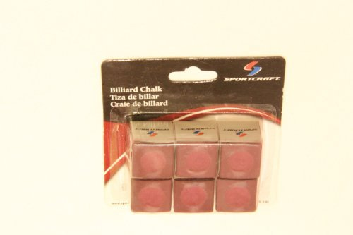 Sportcraft Billiard Chalk Pre-hollowed to fit cue tips - red