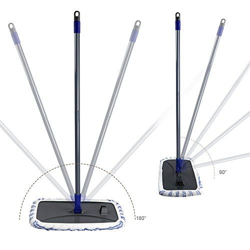 Mastertop Large Surface Microfiber Flat Mop 360 Degree Used Wet and Dry with Adjustable Handle for Hardwood Floors by Mastertop (Image #5)