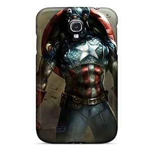 Durable Protector Case Cover With Captain America I4 Hot Design For Galaxy S4