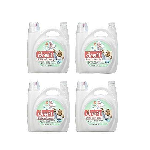 Dreft Stage 2: Active Baby Liquid Laundry Detergent (HE), 150 oz, 96 loads (4 Pack) by Dreft