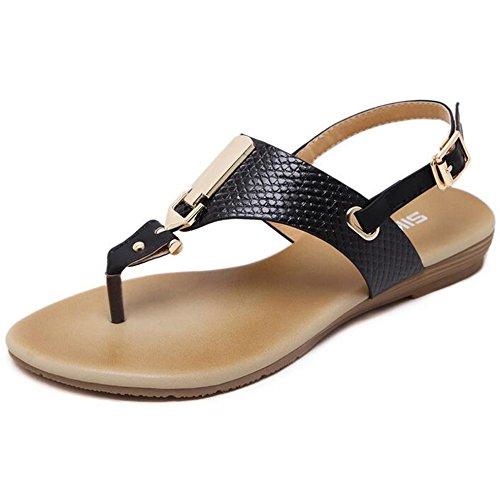 LIUYENIU Sommer Damen Sandalen/flache Schuhe/Sandalen/flip flops Sandalen/Frauen Sandalen,36,Dunkelbraun