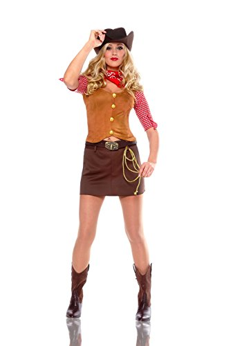 Costume Culture Women's Gun Slinger Costume, Brown, ()