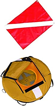 SM SunniMix Safety Freediving Buoy - Water Buoyant Floating Inflatable Float with Diver Down Boat Flag for Tec