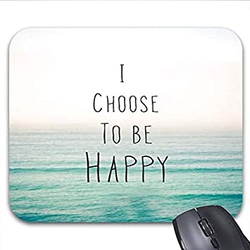 Amazoncom Choose Happy Quotes Of Life Mouse Pads Stylish Office