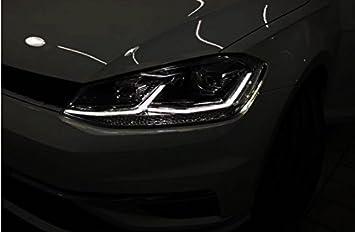 GOWE - Faros Delanteros para VW Golf7 Golf 7 MK7 con luz LED DRL de Doble Haz ...