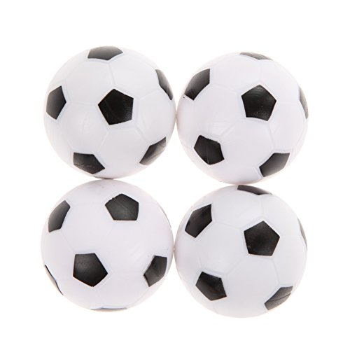 4Pcs 36mm Foosball White and Black - 1