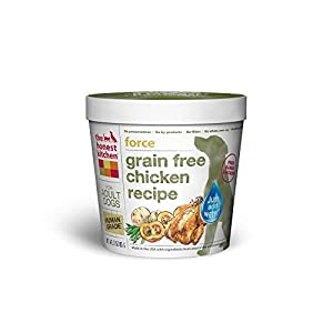 The Honest Kitchen Force Grain Free Dog Food - Natural Human Grade Dehydrated Dog Food, Chicken, Single Serve Cup, 3 oz (Tray of 8)