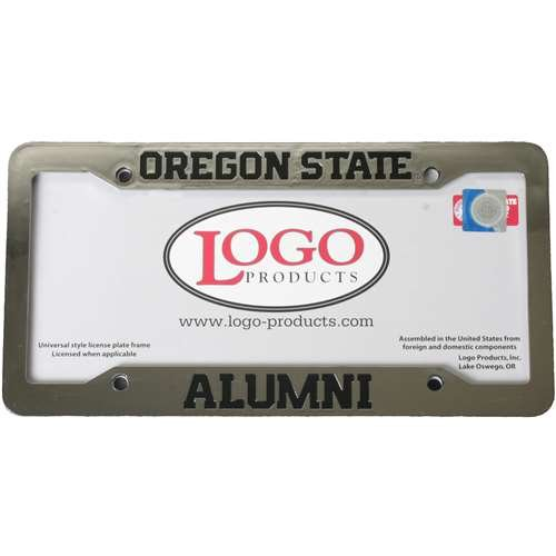 Oregon State Beavers Alumni Chrome Plastic License Plate Frame (Oregon State Logo Plate)