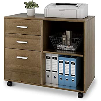 Amazon Com Tribesigns 3 Drawer Wood File Cabinets Large