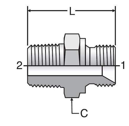 Parker 4-4FMK4S Male Straight K4 Adapter 1//4 BSPP X 1//4 NPTF Male Steel