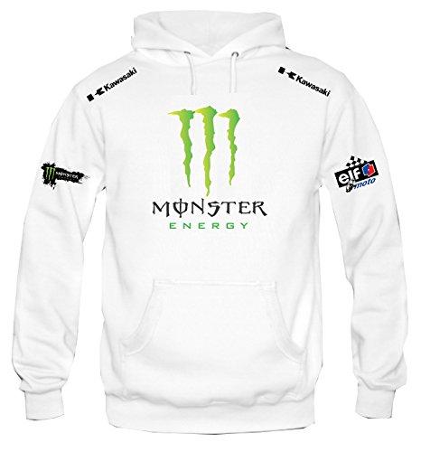 Sudadera con capucha personalizado kawasaki monster racing (S)