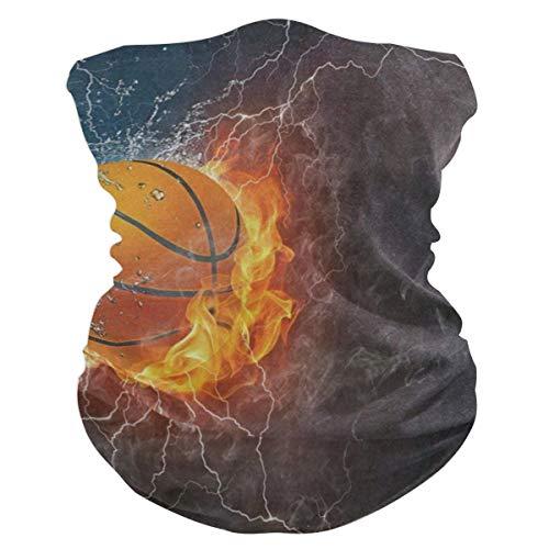 Basketball On Fire Balaclava Womens Headband Scarf Mens Bandana,Muffler,Neck Gaiter,Magic,Headwrap Neckerchief