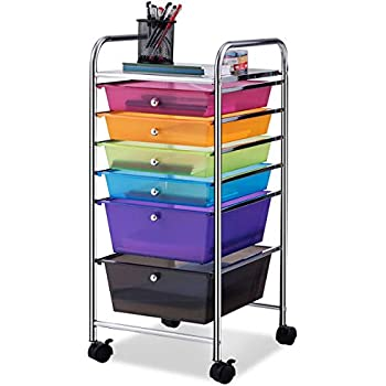Amazon Com Giantex 6 Drawer Rolling Storage Cart Tools