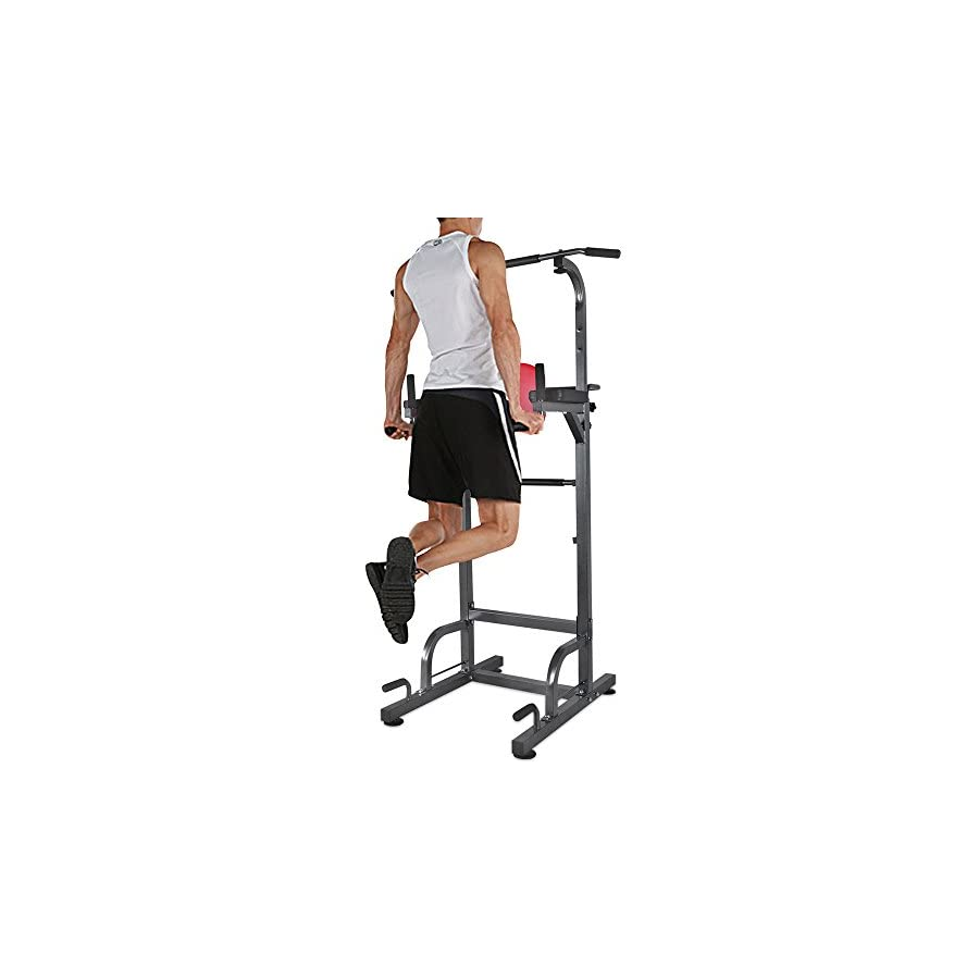 RELIFE REBUILD YOUR LIFE Power Tower Workout Dip Station for Home Gym Strength Training Fitness Equipment
