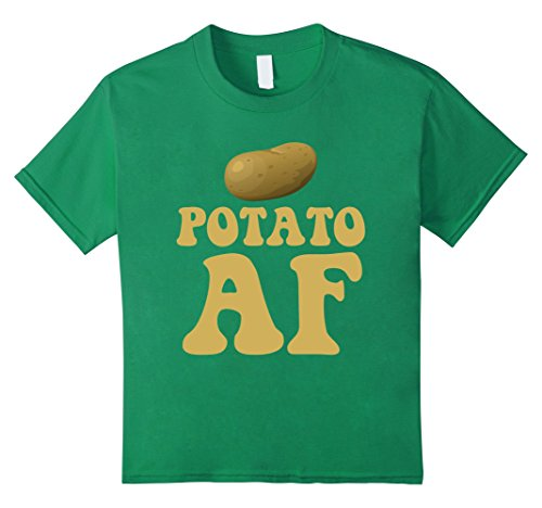 Kids Potato AF Funny Potatoes Starchy Vegetable Side Dish T-Shirt 10 Kelly Green