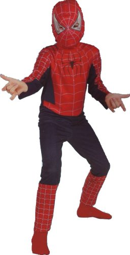 Spider Man Movie Costume Spiderman Child Teen Size 11-14 (Mens Black Spiderman Costume)
