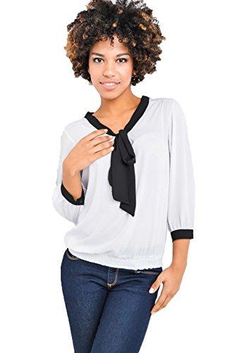 Fashion - Camisas - Túnica - Básico - Manga Larga - para mujer Weiß