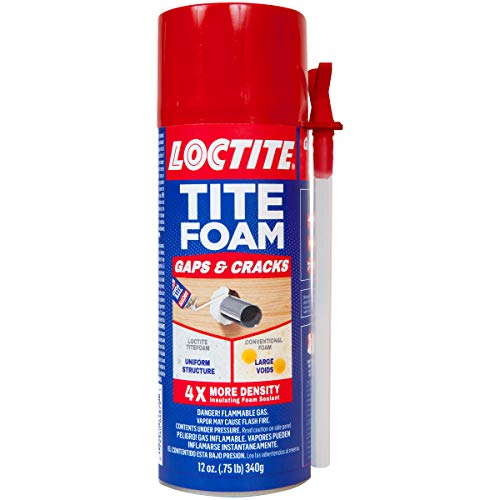 Spray Foam Can - Loctite TITEFOAM Insulating Foam Sealant, One 12 Ounce Can (1988753)