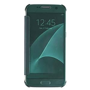 Galaxy S7móvil, feitong Lujo Espejo Carcasa Protectora Case delgado para Samsung Galaxy S7Azul