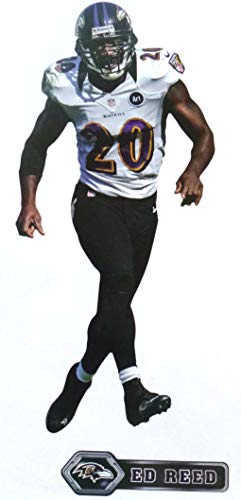 Ed Reed Mini FATHEAD Graphic Baltimore Ravens Official NFL Vinyl Wall Graphic 7