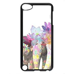 iPod Touch 5 5th Case, iCustomonline Colorful Elephant Back Case Cover for iPod Touch 5 5th